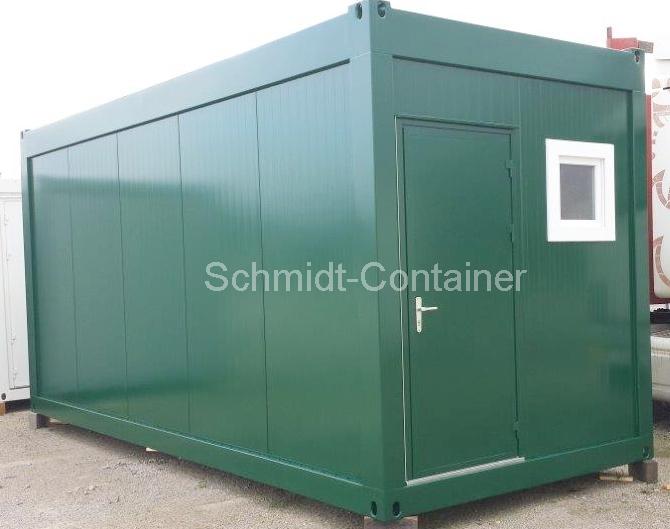 Aufenthaltscontainer 6055 x 2435mm, Rauminnenhöhe 2500mm; mit WC-Raum