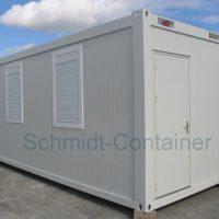 Bürocontainer 20 Fuss (6,055 x 2,435 m), Rauminnenhöhe 2,500 m, FTV Wandpaneele