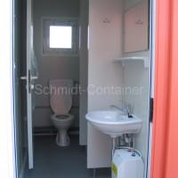 Sanitärmodul, WC-Container 10 Fuß (Damen / Herren WC), 2,989 x 2,435m mit Sonderlackierung.