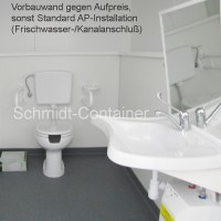 Behinderten WC-Raum / Containermodul