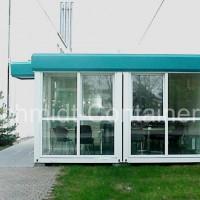 Verkaufspavillon, Büropavillon, Imbisspavillon 2x20 Fuß Raummodul