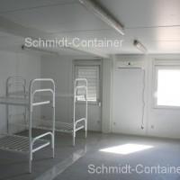 Containercamp, Wohncontainer Innenansicht