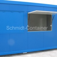 Imbisscontainer 20' blau.