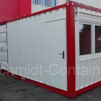 Kombicontainer (20 Fuß): Büro und Lager in Einem.