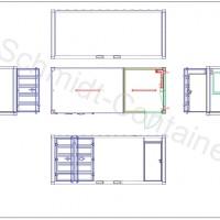 Kombicontainer - Büro und Lager in einem 20' Container