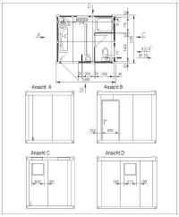 Sanitärmodul / Baustellencontainer (Dusche, WC Herren)