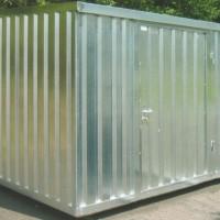 Materialcontainer, Lagercontainer Leichtbaukonstruktion zum Selbstaufbau oder Vormontage ab Werk