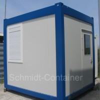 Pförtnercontainer mit Kontrastlackierung und Extra-Isolation