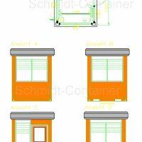 Pförtnercontainer / Kassencontainer 2300 x 2300 mm