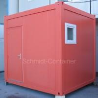 Sanitärcontainer 10 Fuß (Herren): Dusche, WC, Waschrinne, Urinal.