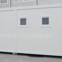 WC-Container, WC-Modul: Sanitärcontainer Damen- / Herren WC 20 Fuß