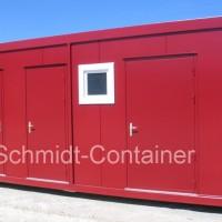 Sanitärcontainer, WC-Container, WC-Modul 24 Fuß (Damen- /Herren- /Behinderten WC)
