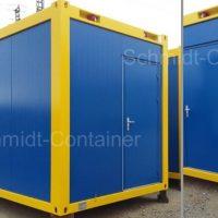 Schwarz-Weiss-Container mit Kontrastlackierung