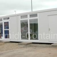 Verkaufscontainer / Büropavillon 9,125 x 2,435m