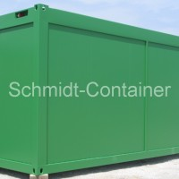 Waagecontainer / Wiegehauscontainer mit gr. Winfang und Schiebefenster (innen)