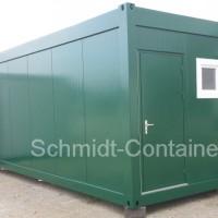 Wohncontainer mit Sanitärraum - WC, Dusche, Waschbecken und Boiler 80L