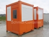 Pförtnercontainer 2000 x 2000 x 2765 mm, Rauminnenhöhe 2500mm